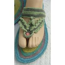 Sandalias Artesanales Ojota 40 Tejido Crochet (ana.mar)