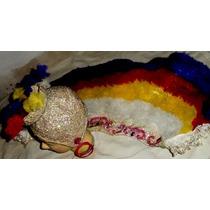 Disfraz Infantil Pollera Casquete-carioca-baile-foto Disfraz