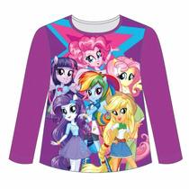 Remera Manga Larga Little Pony Equestria Girls Mundo Manias