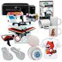 Kit Inicial Sublimação 4 Em 1 Impressora + Base Plana 29x38