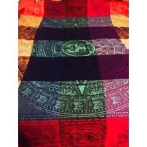 Hermoso Mantel Calendario Azteca Artesanal 1.5 X 1.5 Mts