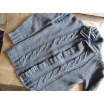 Sweater Tipo Cardigan Rever Pass Nuevo Talle M Color Marron