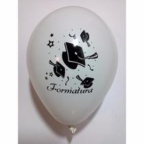 25 Balões/bexigas Decorados Estampa Formatura