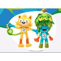 Pelúcia Tom E Vinicius Mascote Olimpíadas Rio 2016 30cm