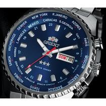 Relógio Orient Automático 469ss057 Azul Original Com Nf