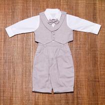 Conjunto Infantil Masculino Para Batizado Colete E Gravata