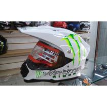Capacete Monster 46 Off Road Helmet Cross Rali Rider