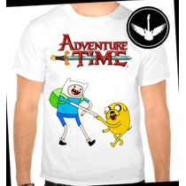 Camiseta Hora De Aventura Infantil Ou Adulto Finn Jake