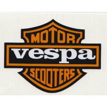 Calcomania Sticker Estampa Emblema Vespa Motoneta Moto