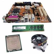 Kit Placa Mãe + Process Intel Dual Core + 2 Gb Ddr2 + Cooler