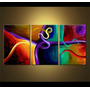 Cuadros Trípticos Pintados Pinturas Modernos Abstractos