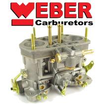 Carburador Mod. Weber 40 Idf Novo Niquelado Alcool Gasolina