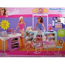 Juguete Barbie Tienda De Donuts Playset W Cambio Del Color