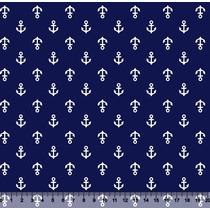 Tecido Ancora Tricoline Retalho Patchwork 50cm X 1,50mt
