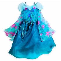Vestido Frozen De Elsa Fever Americano Envio Gratis Dhl