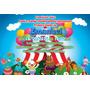50 Convite 10x15 Aniversário Circo Palhaços Com Foto 48hrs