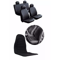 Capa De Banco Courino Couro + Assento Massageador Automotivo