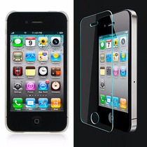 Funda Transparente Iphone 4 Original Mica Cristal Templado