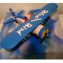 Avion Biplano Blue Bird Pila C/ Luces Año90 Lupetoys