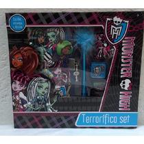 Fiesta Monster High Set De Diario Con Estampas Y Sellos
