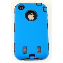 Body Armor Para Iphone 3g / 3gs - Azul Y Negro