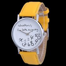 Reloj Whatever, Color Amarillo. Envío Gratis. Moonlight.