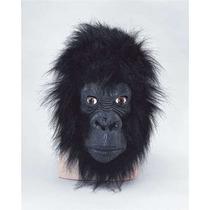 Máscara Grande De Simio Con Boca Cerrada - Disfraz De Gorila