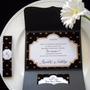 Tarjeta Corazones Invitacion Sobre Perlado Casamiento 15años