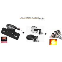 Kit Acessórios Para Moto Custom Lanterna/retrovisor/setas