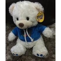 Urso De Pelúcia Importado M&m Branco/azul