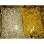 Paquete De Balin Plateado Y Dorado #8 Material Bisutería 1kg
