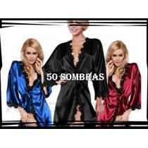 Promo Bata De Raso Modelo Exclusivo - Lencería 50 Sombras