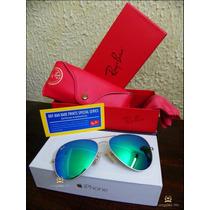 Óculos Aviador Lançamento Rb3025 - Rb3026 Lentes Espelhadas