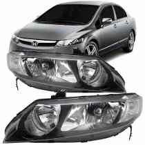 Par De Farol Honda New Civic 07 08 09 2010 2011