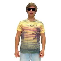 Camiseta Manga Curta Maresia Texture Yellow