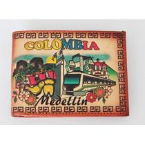 Billetera En Cuero Colombia Recuerdo Típico Medellín