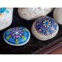 Souvenirs Mandalas Pintados Sobre Piedras