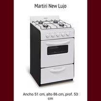 Cocina 4 Hornallas C/horno Martiri New Lujo Gas Natural