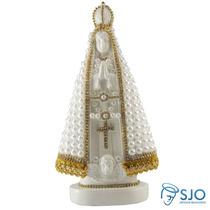 Nossa Senhora Aparecida Em Pérola Branca - 20 Cm