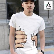 Polo Blanco Estampado En 3d Fashion
