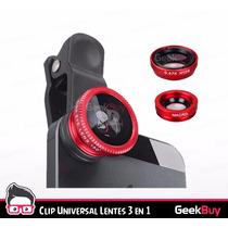 Clip Universal Lente 3 En 1 Para Celular Galaxy Iphone Gbmx