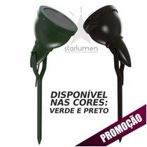Kit 6 Espeto Jardim Alumínio Luminária Preto E27 Par 20