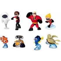 Disney Pixar Mini Figuras - Nemo Dory Incriveis Wall-e Eve