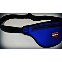 Pochete Azul Corrida Bike Celular Luva Musculação Unisex