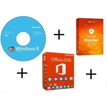 Cd Instalação Windows 8 32/64 + Office 2016 + Avast Premier