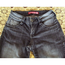 Linda Calça Jeans Com Elastano Corte Reto Marca Razon