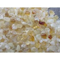 Pedras Citrino Semi-roladas Tamanho Pequeno Pacote De 1kg