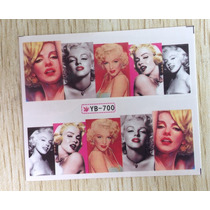 Exclusivos Stickers De Uñas Al Agua Marilyn A Color