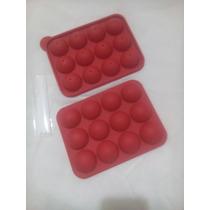 Molde De Silicón Para Pop Cakes De 12 Cavidades-utilísimo !