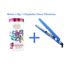 Chapinha Prancha Profissional Placas Titanium + 1 Kg Botox